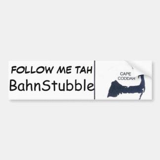 Native Cape Coddah BahnStubble Bumpah Stickah Car Bumper Sticker