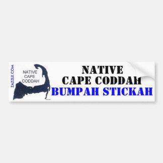 Native Cape Coddah Bumpah Stickah Bumper Stickers