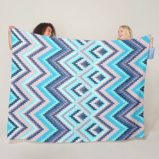Native Chevron Tribal Pattern Quilt Fleece Blanket