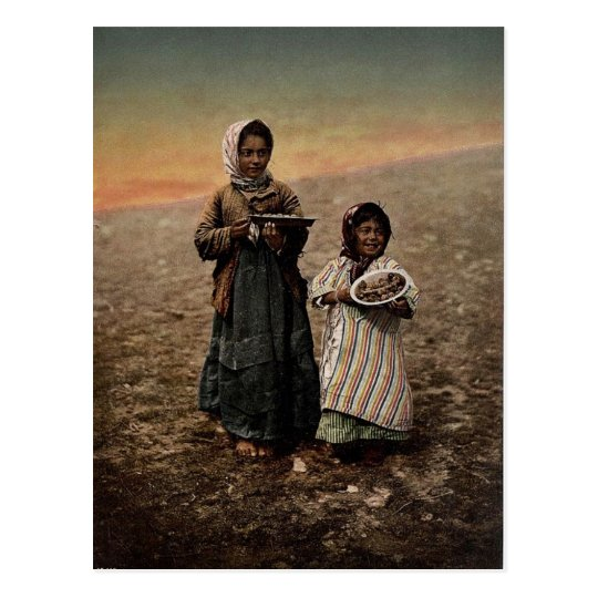 Native children from neighbourhood of Jerusalem, Postcard
