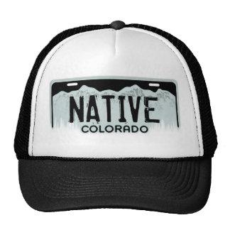 Native Colorado black license plate souvenir hat
