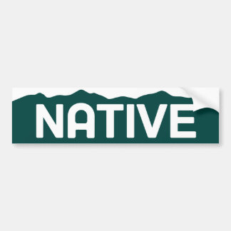 Native Colorado Bumper Sticker