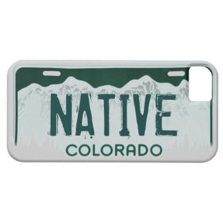 Native Colorado license plate iphone 5 case