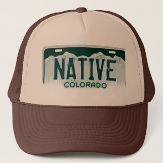 Native Colorado license plate souvenir hat