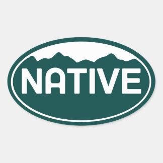 Native Colorado Oval Sticker