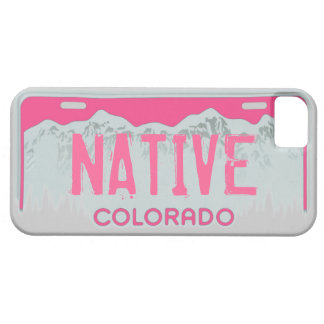 Native Colorado pink license plate iphone 5 case