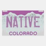 Native Colorado purple license plate stickers