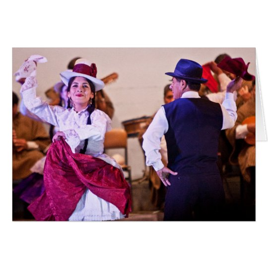 Native Dancers in Cusco 2 Card