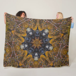 Native Deer Totem Power Animal Spirit Mandala Fleece Blanket