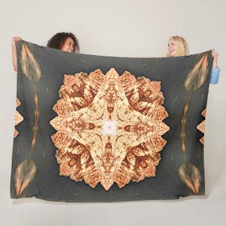 Native Desert Shaman Tribal Shield Mandala Quilt Fleece Blanket