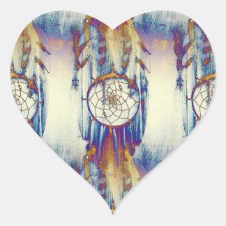 Native Dreams Heart Sticker