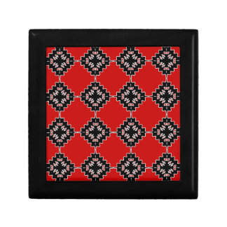 Native ethnic pattern small square gift box
