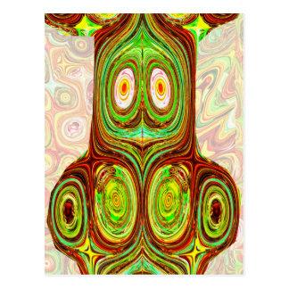 Native Ethnic Spirits Ghosts Masks Emblem Giveaway Postcard