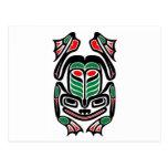Native Haida Art Frog - black on white