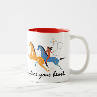 Native Horseman coffee mug