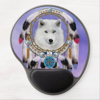 Native Indian Wolf Spirit Gel Mouse Mat