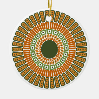 Native-Inspired double-sided ornament