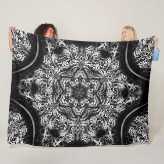 Native Lightning Dragon Dream Lotus Flower Mandala Fleece Blanket