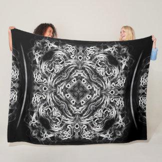 Native Lightning Dragon Tribal Mandala Quilt Fleece Blanket