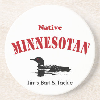 Native Minnesotan - Custom Message Coaster