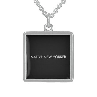 Native New Yorker Sterling Silver Necklace