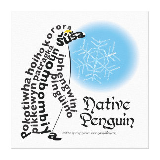 Native Penguin Canvas Print