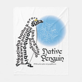 Native Penguin Fleece Blanket