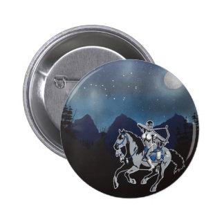 Native Pin Up Girl Button Customizable
