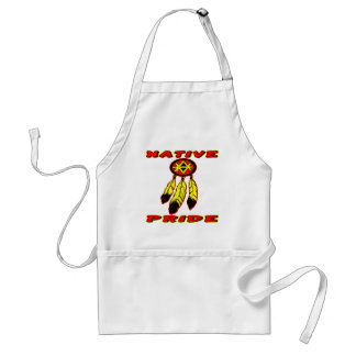 Native Pride 3 Feathers Adult Apron