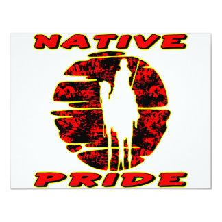 Native Pride Warrior #002 11 Cm X 14 Cm Invitation Card
