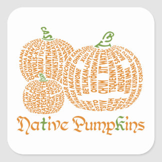 Native Pumpkins Sticker