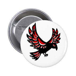 Native Raven 6 Cm Round Badge