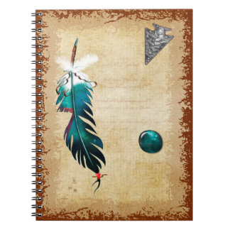 Native Reflections Native American Art Spiral Notebook