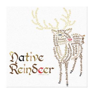 Native Reindeer Canvas Print