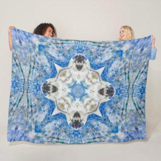 Native Shaman Air Spirit Shield Mandala Quilt Fleece Blanket