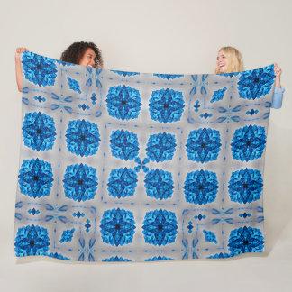 Native Shaman Spirit Crystals Stone Mandala Quilt Fleece Blanket