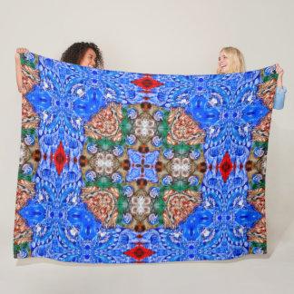 Native Spirit Apache Shaman Mandala World Fleece Blanket