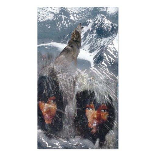 Native Spirit in Alaska Business Card Templates