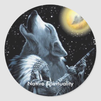 Native Spirituality Classic Round Sticker