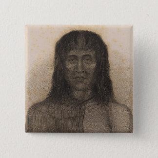 Native, Terra del Fuego, Argentina and Chile 15 Cm Square Badge