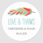 Native Themed | Wedding Thank You Favour Stickers