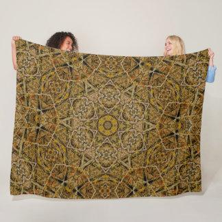 Native Tree Spirit Earth Tribal Mandala Quilt Fleece Blanket