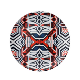 Native tribal contemporary porcelain plate