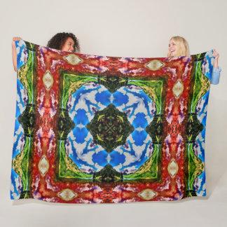 Native Tribal Nature Balance Wheel Mandala Quilt Fleece Blanket