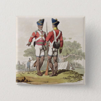 Native Troops in the East India Company's Service: 15 Cm Square Badge