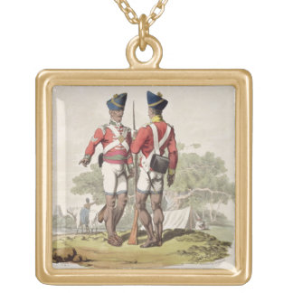 Native Troops in the East India Company's Service: Gold Plated Necklace