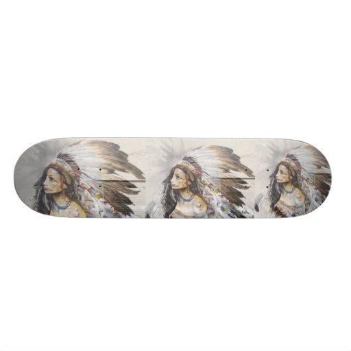Native Woman Graffiti Skateboard