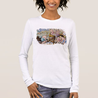 Natives Fishing for Giant Clams on the Indus, plat Long Sleeve T-Shirt