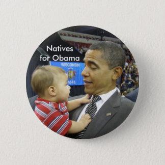 Natives for Obama 6 Cm Round Badge