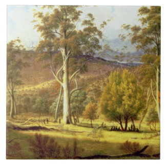 Natives in the Eucalypt Forest on Mills Plains, Pa Tile